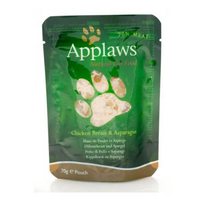 Picture of APPLAWS CAT POUCH CHK/ASPARAG