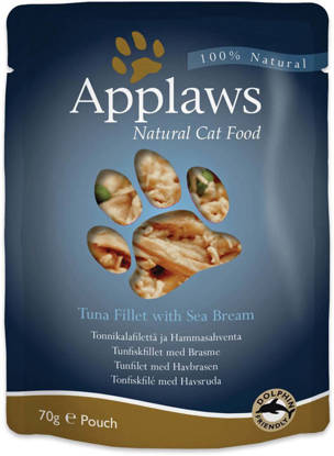 Picture of APPLAWS CAT POUCH TUNA/SEABREA