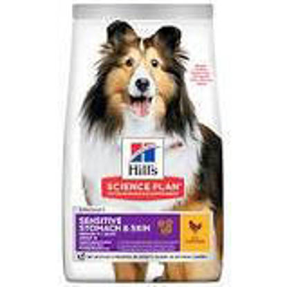 Picture of Hills Science Plan  Adult Dog Medium Sensitive Skin/Stomach 14kg