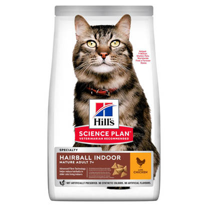 Picture of Hills Science Plan Hairball Indoor Mature Dry Cat Food 1.5kg