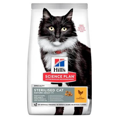 Picture of Hills Science Plan Sterilised Cat Mature Adult Chicken 6 x 300g